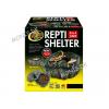 Zoo Med Repti Shelter Large - Fugtskjul til slanger eller øgler i keramik i flot indpakning, køb her!