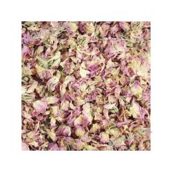 Pre Alpin Rosenblomst Blade i original indpakning er gode som snack til bla. chinchilla, hamster, marsvin og landskildpadder