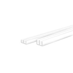 E-lister hvid - Hvidt glasliste sæt til 4 mm glas, perfekt til montering af glaslåger i terrarier. Køb online her!