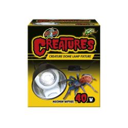 Zoo med Creatures Dome terrarie Lampe 40w max. Perfekt til mindre terrarier med biller, knælere og ederkopper.