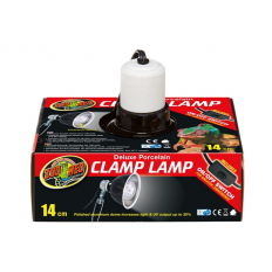 Zoo Med Deluxe Porcelain Clamp Lamp - Terrarielampe godkendt til 150W. Køb online her!