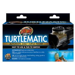 Zoo Med TurtleMatic, foderautomat til sumpskildpadder og andre akvarie levende krybdyr.