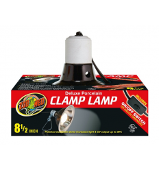 Zoo Med Deluxe Clamp Lamp Ø22 cm terrarie lampe med 30% mere lys output. Køb online her!