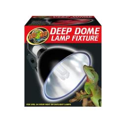 Zoo Med Deep Dome terrarie lampe med 30% mere lys end andre lamper på markedet, køb online her!
