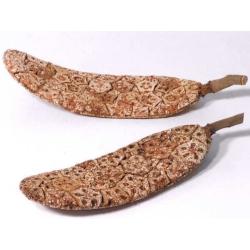 Korkblad 30cm - Håndlavede blade hvor ikke 2 er ens, perfekte til terrariet eller blomster dekorationen. Køb her!