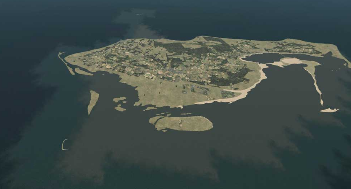 Øen Læsø ude i midten af kattegat